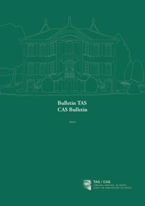 Bulletin TAS CAS Bulletin